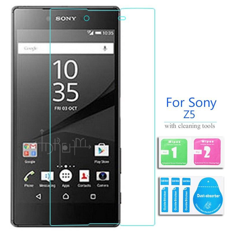 2 pièces pour Sony Xperia Z5 Premium Film de protection décran en verre trempé sur E6833 E6853 E6883 SO-03H double Sim