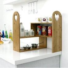 A1 cuisine multifonctionnel assaisonnement support simple bambou supports cuisine étagère de rangement plat étagère de rangement wx8151432