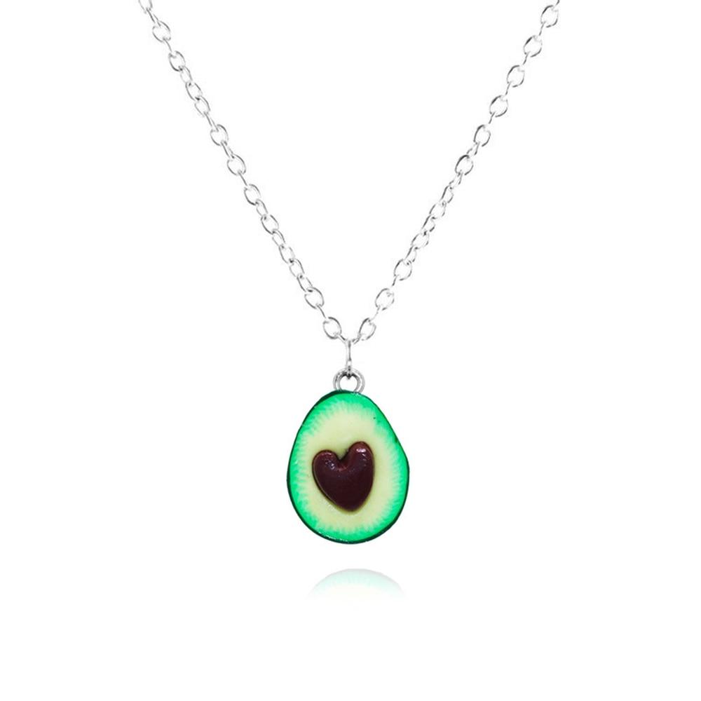 Женское ожерелье с подвеской в форме авокадо, ручной работы, длинные цепочки с фруктами, вечерние подарочные украшения