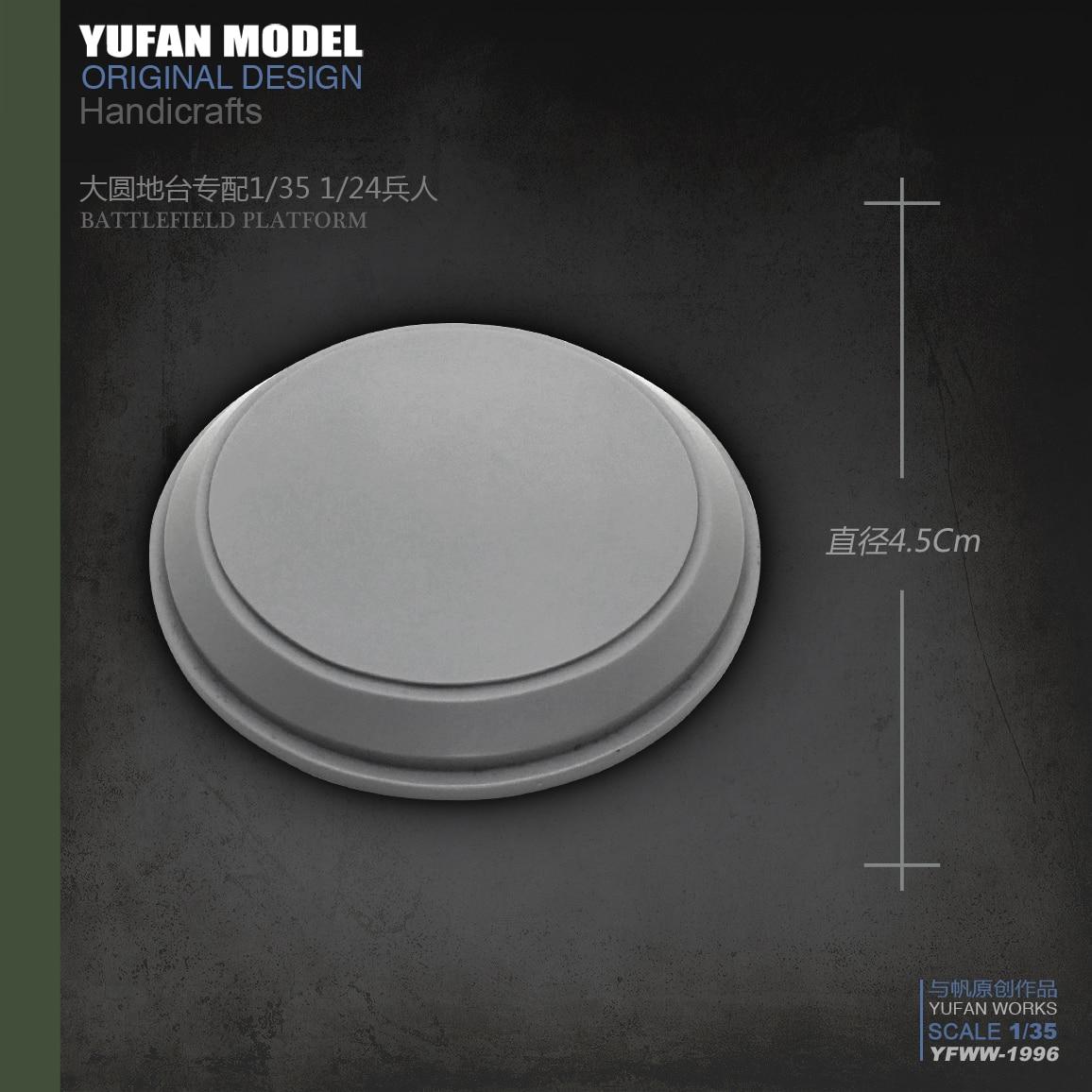 Yufan modelo Plataforma de resina de 4,5 cm resina soldado accesorios YFWW-1997