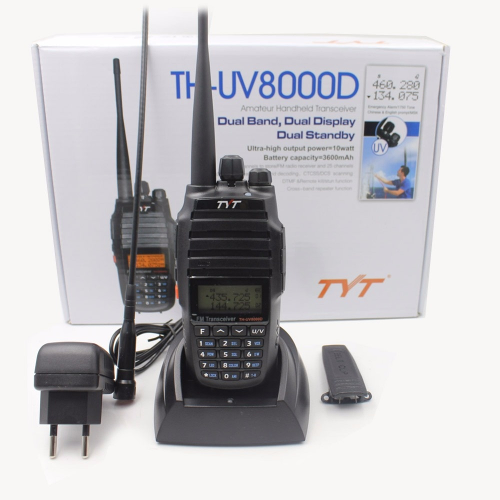 2pcs/lot Upgrade Version Cross Band Repeater Function VHF UHF TYT TH-UV8000D Amateur Radio 10KM High 10W Hunting Walkie Talkie enlarge