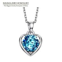 Neoglory Blue Heart Love Gifts Chokers Necklaces & Pendants For Women New 2020 Teen Girls Charm Fashion Jewelry He1 He-b B1