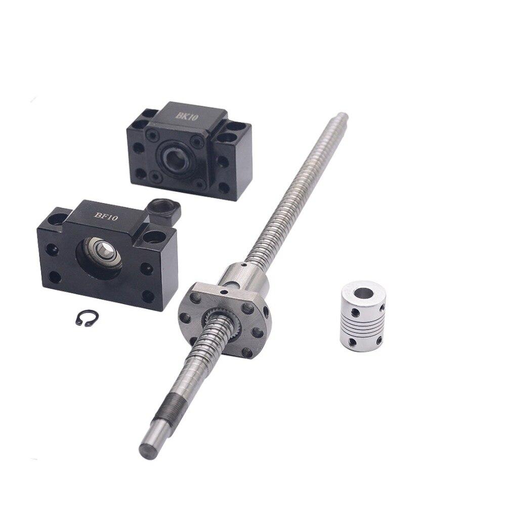 SFU1204 مجموعة: SFU1204 L-300mm توالت الكرة اللولبية C7 مع نهاية تشكيله + 1204 الكرة الجوز + BK/BF10 نهاية دعم + المقرنة ل CNC أجزاء