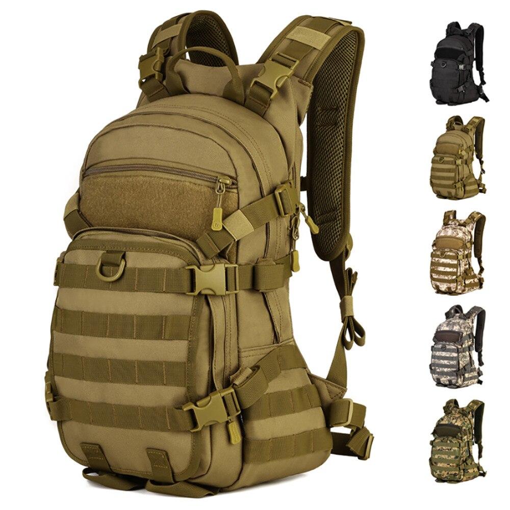 Men's Nylon 25L Large Capacity Backpack Military Molle Daypack Laptop Bag High Quality Male Knapsack Waterproof Travel Rucksack