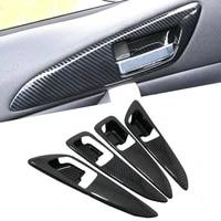 car styling 4pcs abs plastic interior car door handle bowls cover trim for mitsubishi eclipse cross 2018 2019