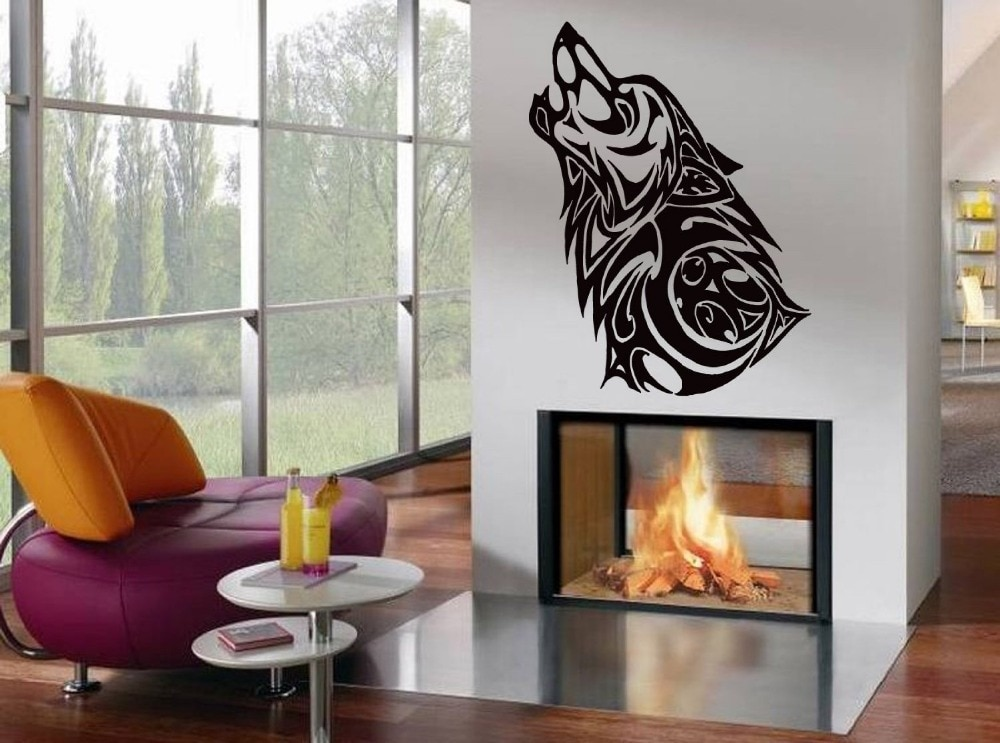 Pegatina de Animal salvaje calcomanía de lobo pósteres pegatinas de pared Pegatina Decal Pegatina de decoración Mural Animal salvaje