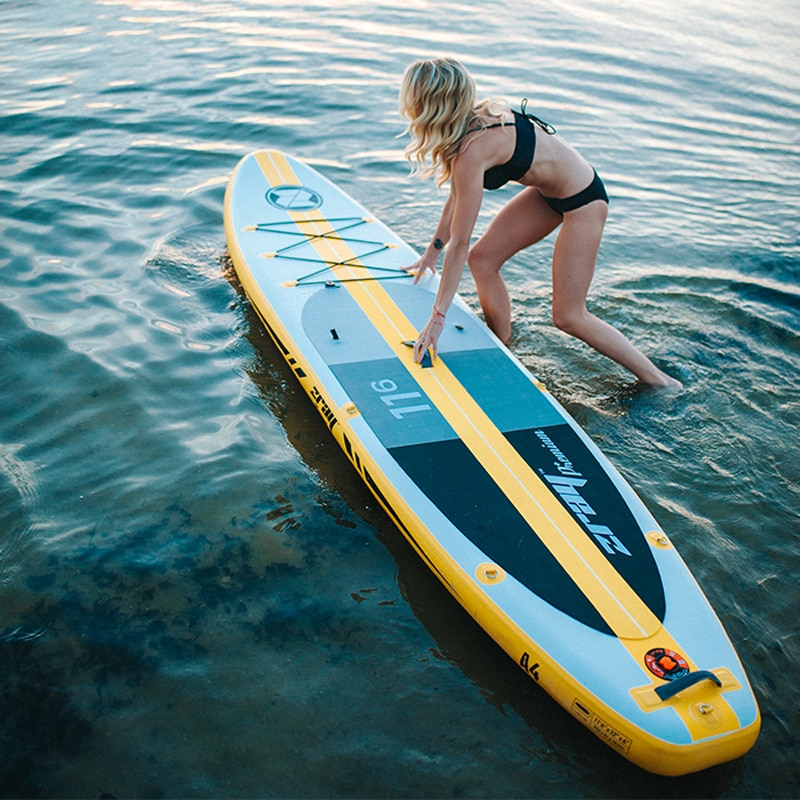 Große größe surf board 350x81x15 cm JILONG Z RAY A4 tour lange aufblasbare sup stand up paddle board surf kajak sport boot bodyboard