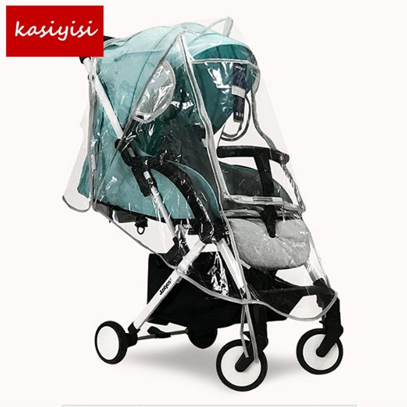 Cubierta de lluvia para carrito de bebé impermeable especial a prueba de viento impermeable grande carro alto paisaje especial cubierta de lluvia