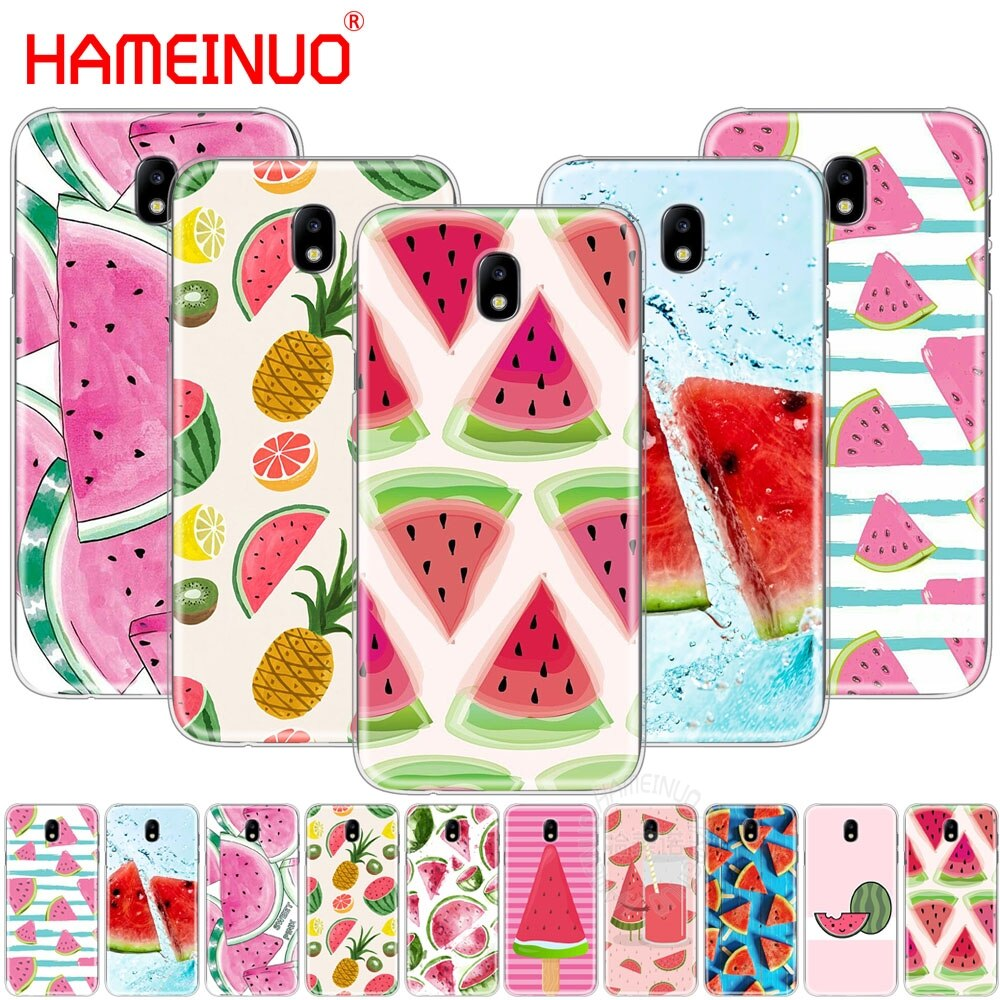 HAMEINUO sandía melón cubierta del teléfono para Samsung Galaxy J3 J5 J7 2017 J527 J727 J327 J330 J530 J730 PRO