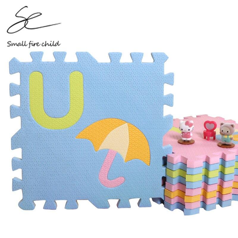 سجادة لعب أرضية سميكة EVA مقاس 30 × 30 × 1.4 سم ، أحجية الصور المقطوعة للأطفال ، ألوان داكنة وخفيفة