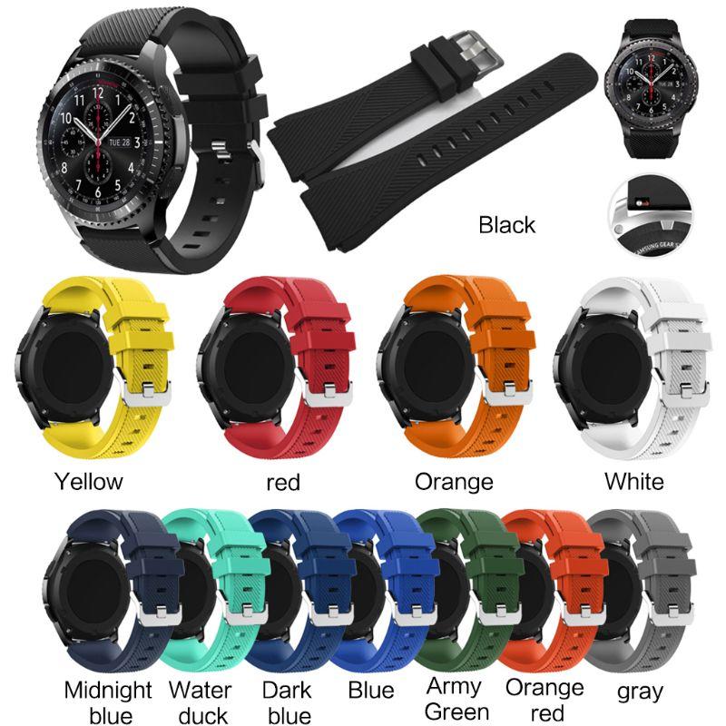 Correa de silicona para reloj Samsung Galaxy, correa de repuesto de silicona...