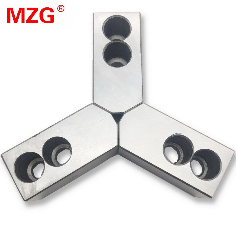 MZG 4 5 6 7 10 12 zoll 120 Grad Standard Hohl Weichen Backe für CNC Drehmaschine Chuck Bearbeitung Schneiden werkzeug
