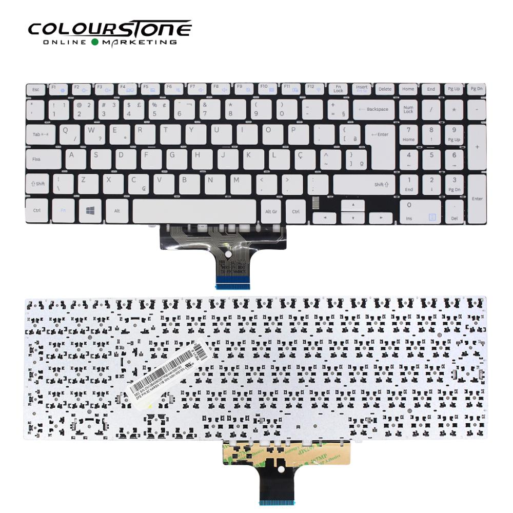 NP500 BR لوحة مفاتيح الكمبيوتر المحمول لوحة مفاتيح سامسونج NP500R5K NP500R5L NP500R5H لوحة المفاتيح البيضاء لا الإطار