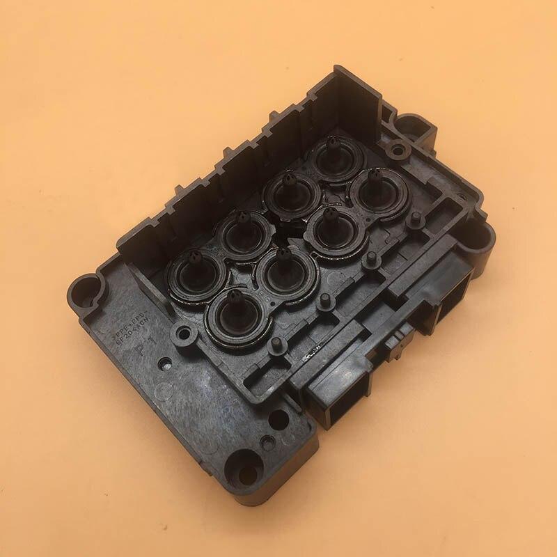 Original plotter con solvente ecológico F189010 dx7 cabezal de impresión cubierta colector de adaptador para con color Xenons Xuli impresora dx7 cabeza de impresión