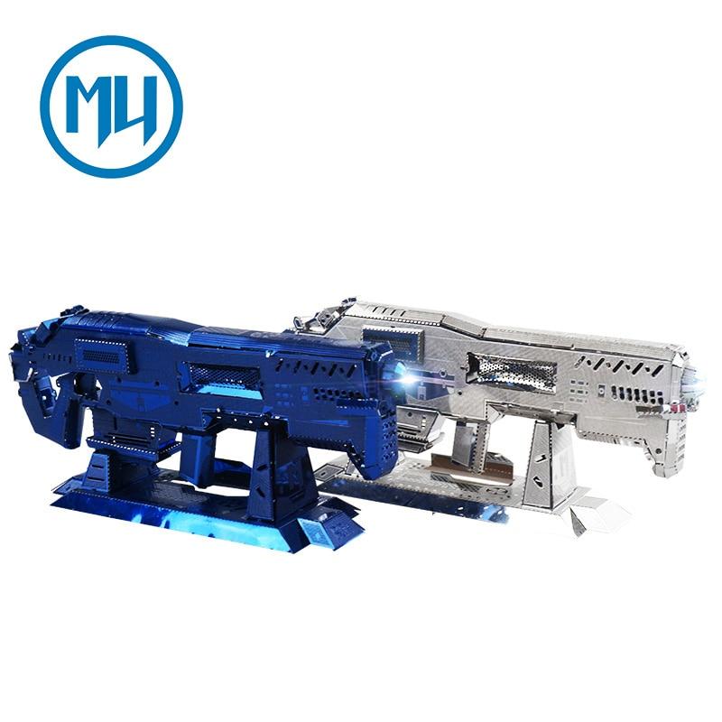 MU 3D Metal Puzzle Star Craft Terran Gauss Rifle Gun Building Model SGM-N01 DIY 3D Laser Cut  Assemble Toys For Audit