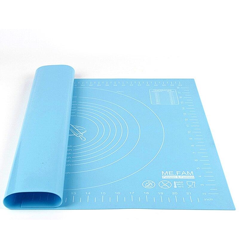 60*40 см большая Термостойкая Силиконовая накладка мягкая разделочная доска антипригарная Накладка для выпечки Кондитерские инструменты ...