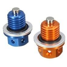 M12 Orange/Blue CNC Oil Drain Plug For KTM 690 DUKE 09-16 450 505 525 SX/XC ATV