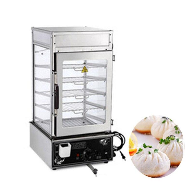 Affichage à vapeur électrique Commercial de nourriture de JamieLin affichage commode de vapeur de nourriture rapide