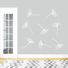 Autocollant mural graines de pissenlit bricolage   Autocollant mural amovible pour décoration intérieure de la maison et salon, papier peint pour chambre de filles Z346