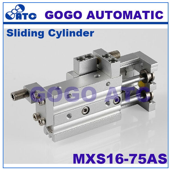 Высокое качество пневматический слайд таблице диаметр цилиндра 16 мм ход 75 MXS16 КАК