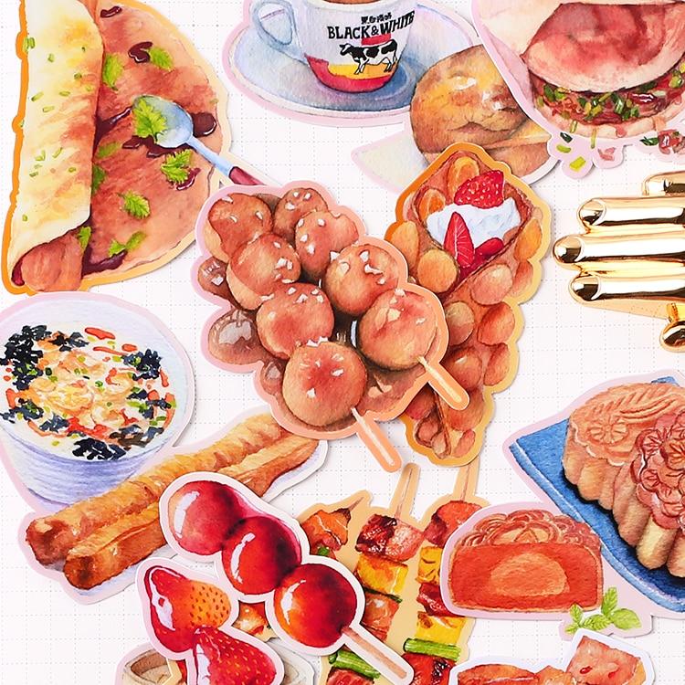 20 pçs criativo bonito auto-feito vida vivendo comida/alimentos scrapbooking adesivos/adesivo decorativo/diy artesanato álbuns de fotos kawaii