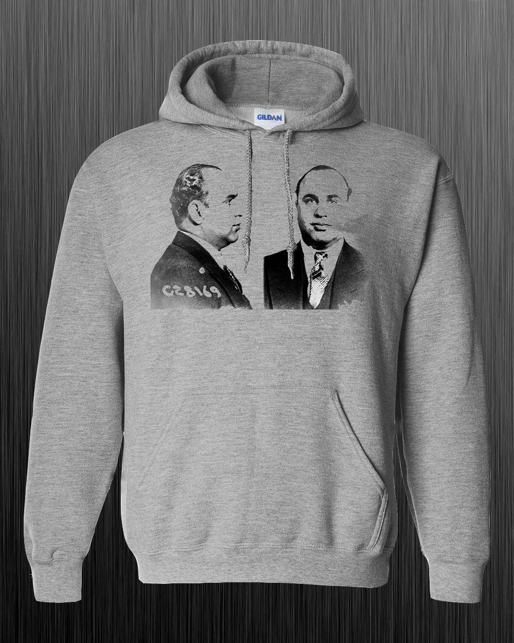 Sudadera con capucha Al Capone Mugshot-Prohibición gángster Chicago mafia Dios Padre sudadera