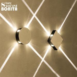 KTV Corridor wall lights for home Square round LED aluminum wall lamp indoor Decoration Modern LED Cross starlight sconces ligh