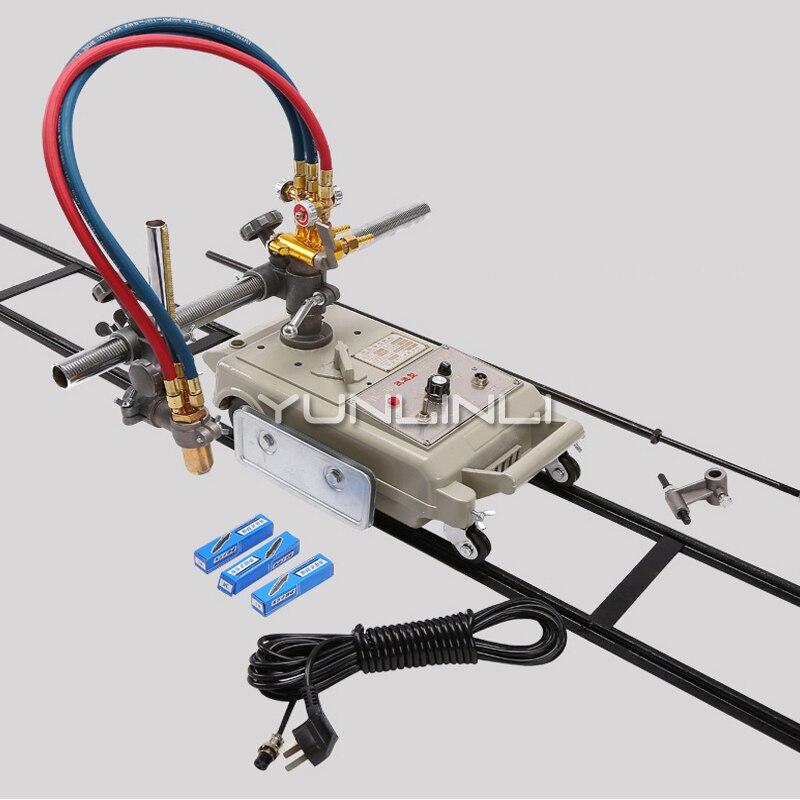 Máquina de corte semiautomática 220 v 24 kg do gás da máquina de corte da chama cortador de linha reta de aço CG1-30