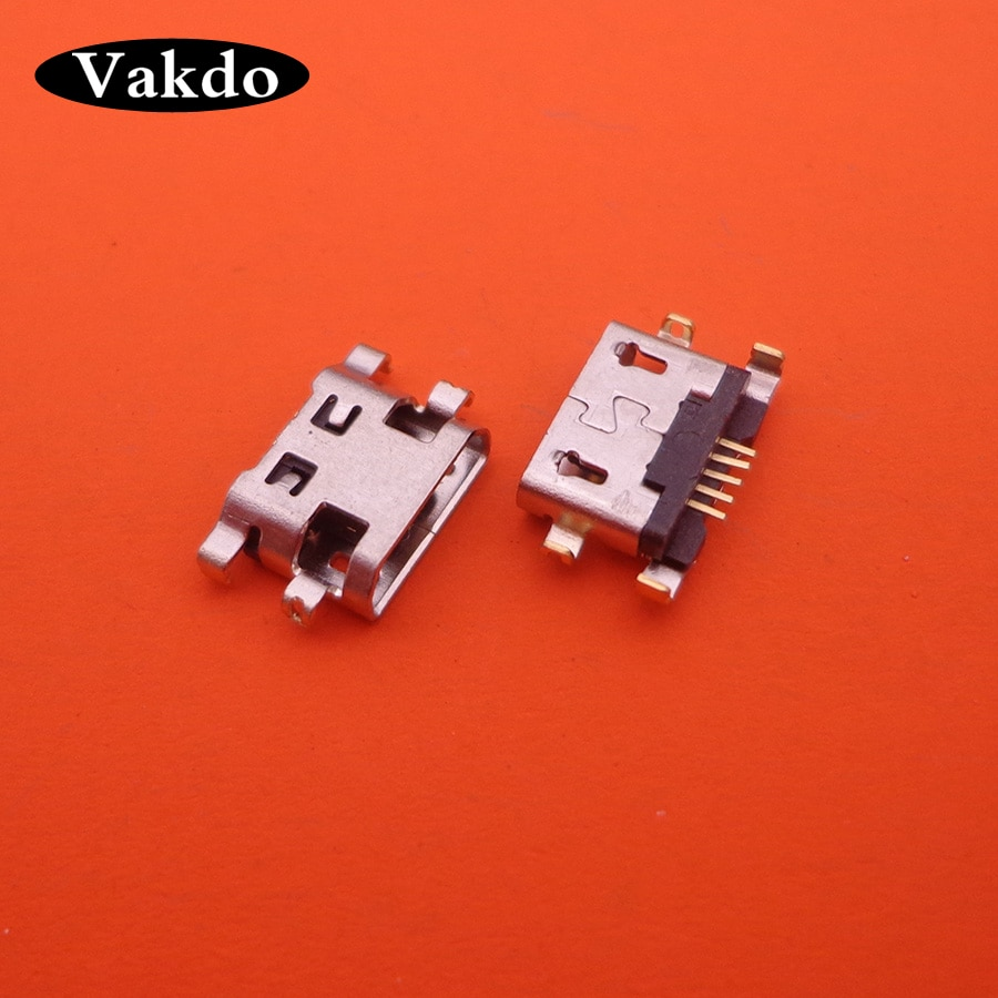 20 unids/lote Mini Micro USB para Wiko Fever 4G piezas de reparación enchufe para clavija conector de alimentación puerto de carga Dock reemplazo