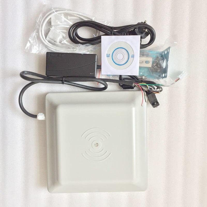 Lector de tarjetas UHF RFID de 6m de largo alcance, antena 8dbi RS232/RS485/Wiegand leer OEM