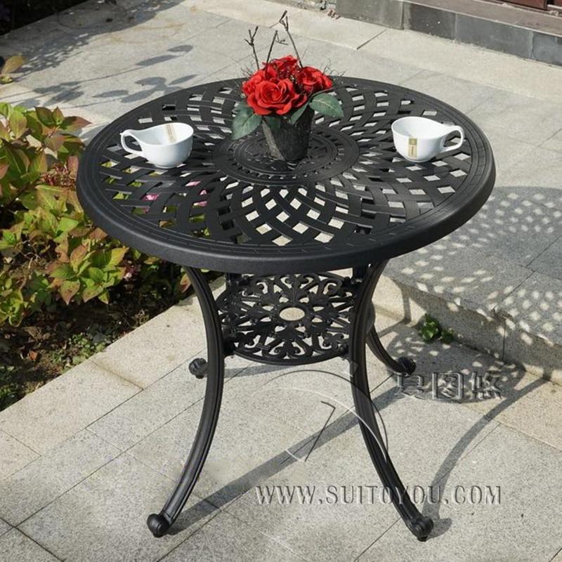 Литой алюминиевый стол для садового стула уличная мебель прочный с отверстиями