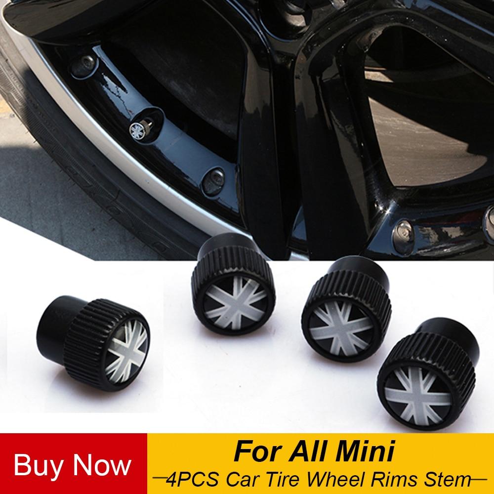 Универсальные колеса для автомобильных шин, 4 шт., колпачки для пневматических клапанов, чехол для Mini Cooper JCW Countryman Clubman, автомобильный Стайлинг