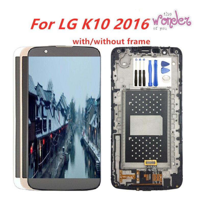 "La pantalla LCD para LG K10 LCD MONTAJE DE digitalizador con pantalla táctil para LG K10 2016 pantalla LCD K410 K430 K430DS K420N 420N K10 5,3"""