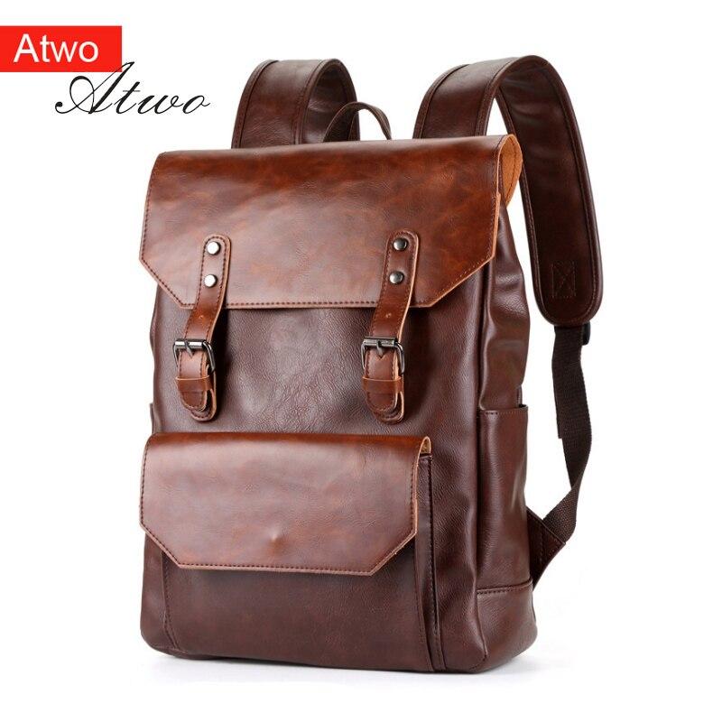 Mochilas para hombre/niño 15,6 de piel sintética de Caballo Loco bolso mochila de moda mochilas impermeables mochila