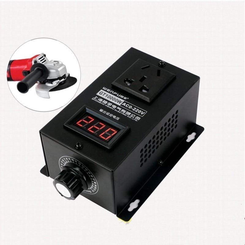 منظم جهد إلكتروني من السيليكون عالي الطاقة 10000 وات ، وحدة تحكم في السرعة متغيرة ، 0 فولت-220 فولت