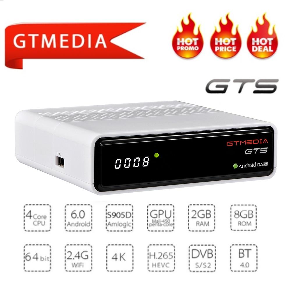 CCCAM IPTV Freesat GTmedia GTS Android 6.0 Smart TV BOX Amlogic S905D Combo DVB-S2 Satellite Receiver 2G/8G BT4.0 Set top TV box