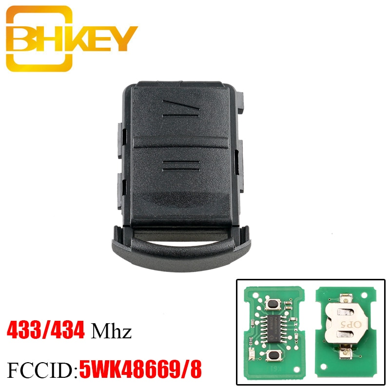 BHKEY 2 botones remoto llave de coche para OPEL/OPEL AGILA MERIVA ASTRA CORSA C COMBO TIGRA VECTRA 2001-2005 No Chip para 5WK4 8668
