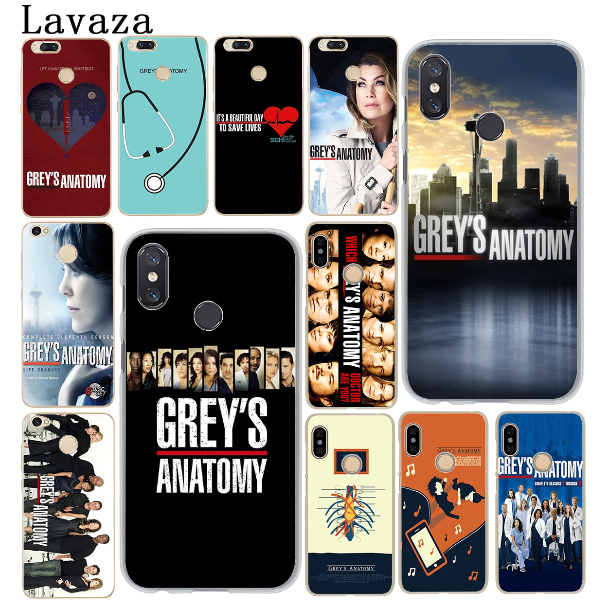 Lavaza grey's Grey is Anatomy logo Season Phone Case for Xiaomi MI 10 9 9T CC9 CC9E A3 Pro 8 SE A2 L