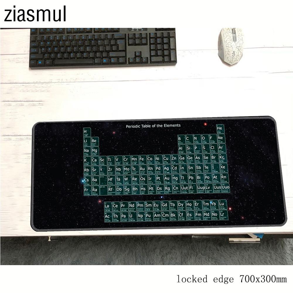 Tabela periódica de alta velocidade personalizada dos elementos do vintage elegante mouse pad gaming retângulo mousepad