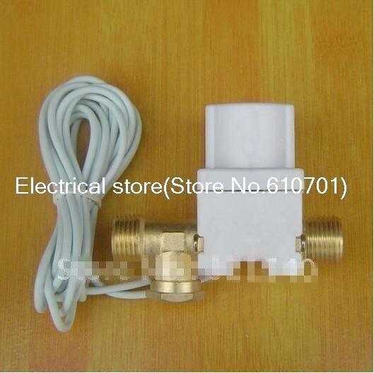 "1/2 ""válvula solenoide Solar de latón 12VDC 24VDC 220V N/C antirretorno 3m alambre agua aire Gas fluido a estrenar"