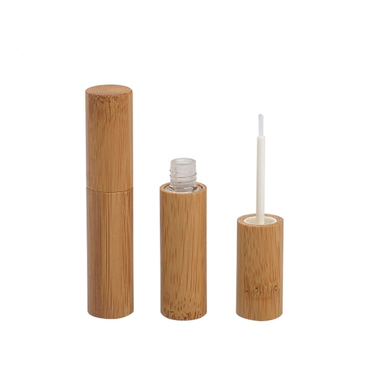 4 ML Eye Liner Tube Empty Handcraft Bamboo Shell Mascara Cream Eyelash Growth Liquid Tube DIY Cosmetic Refillable Bottle 20 pcs