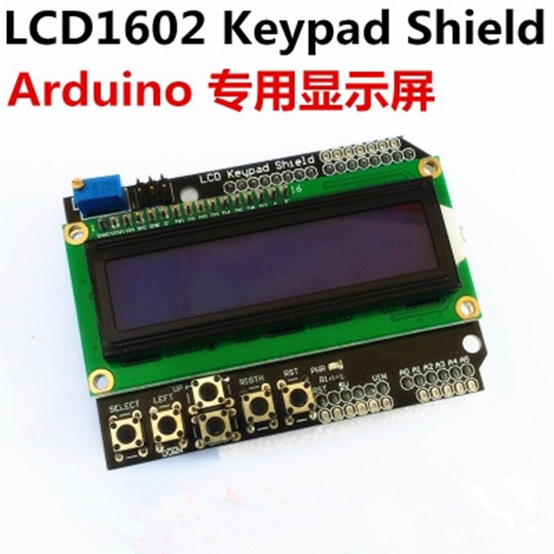 1 Uds LCD teclado escudo LCD1602 LCD 1602 módulo pantalla azul