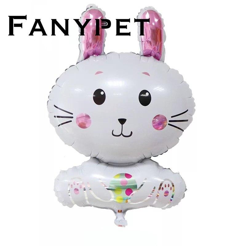 بالونات على شكل أرنب أمنيال ، زينة عيد الفصح ، قابلة للنفخ ، للمنزل ، لعبة للأطفال ، 20 قطعة