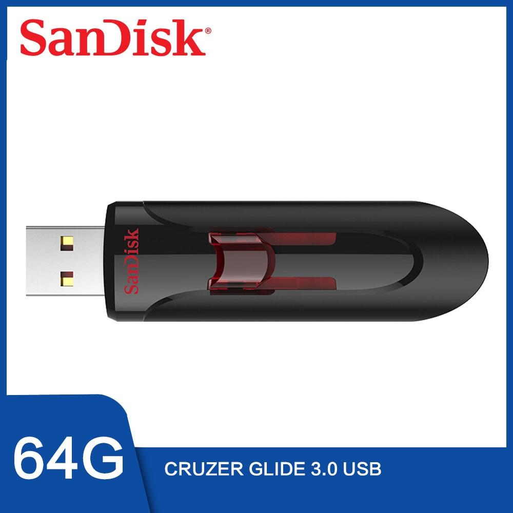 SanDisk Cruzer Glide USB3.0 USB Flash Drive 32 GB 64GB 16GB 128GB USB 3,0 Pendrive Pen Drive 32 GB USB de almacenamiento cle usb