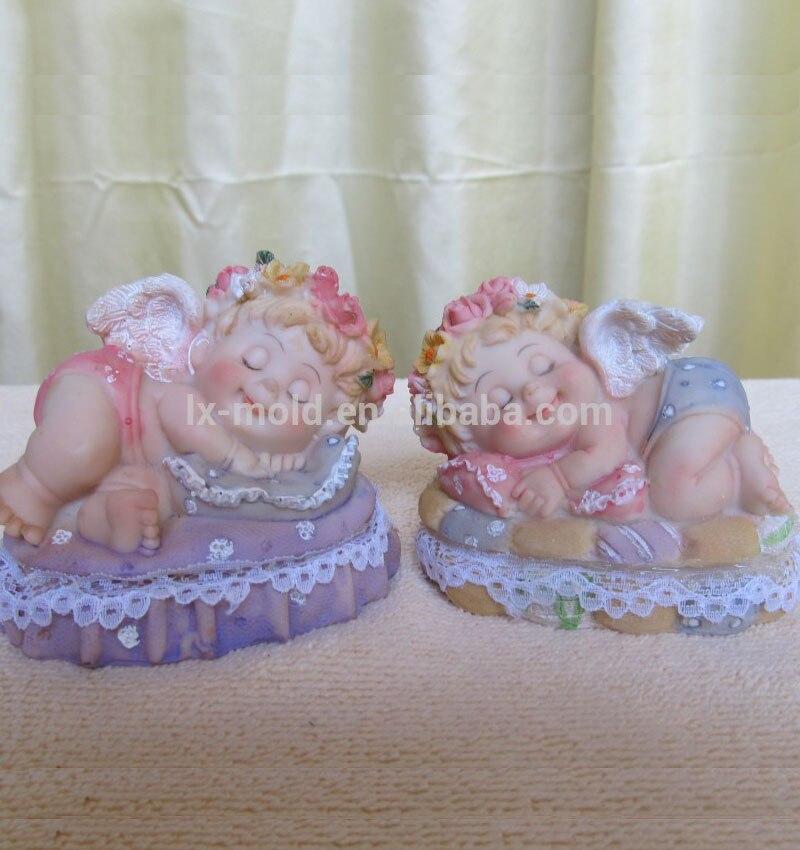 Moldes de arcilla del molde de jabón de silicona para dormir en la cama de Ángel 3d