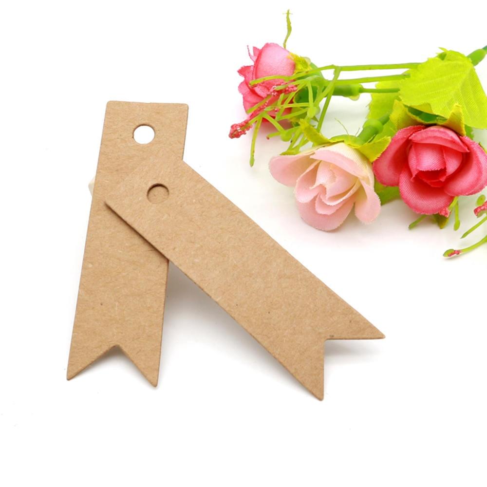 100 Uds. Etiqueta de tarjeta de boda Diy regalos del corazón Etiqueta de tarjeta Kraft joyería/artesanías/etiqueta cookes