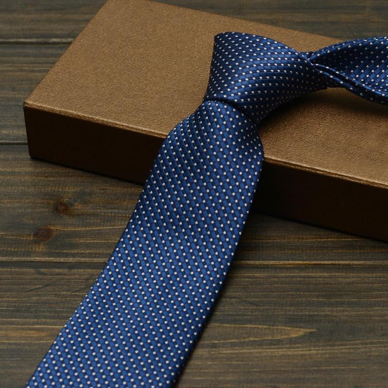 NEW High Quality New Navy Blue Plaid Ties Necktie Gravata For Men's Suits Casual Design Men's Tie Neckwear Wedding Classic Ties