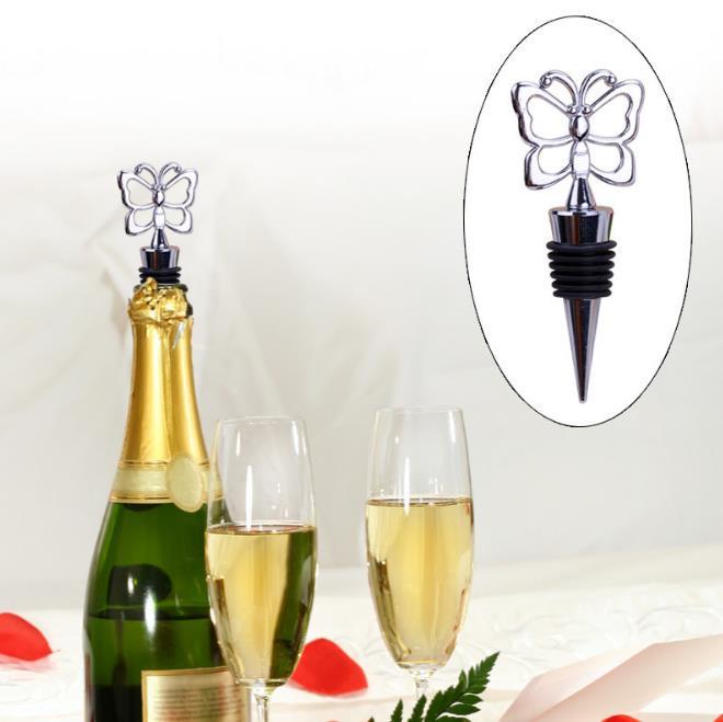 120 pçs/lote Rolha de Garrafa de Vinho favores e presentes do casamento Do Tema Da Borboleta DHL Fedex Frete grátis