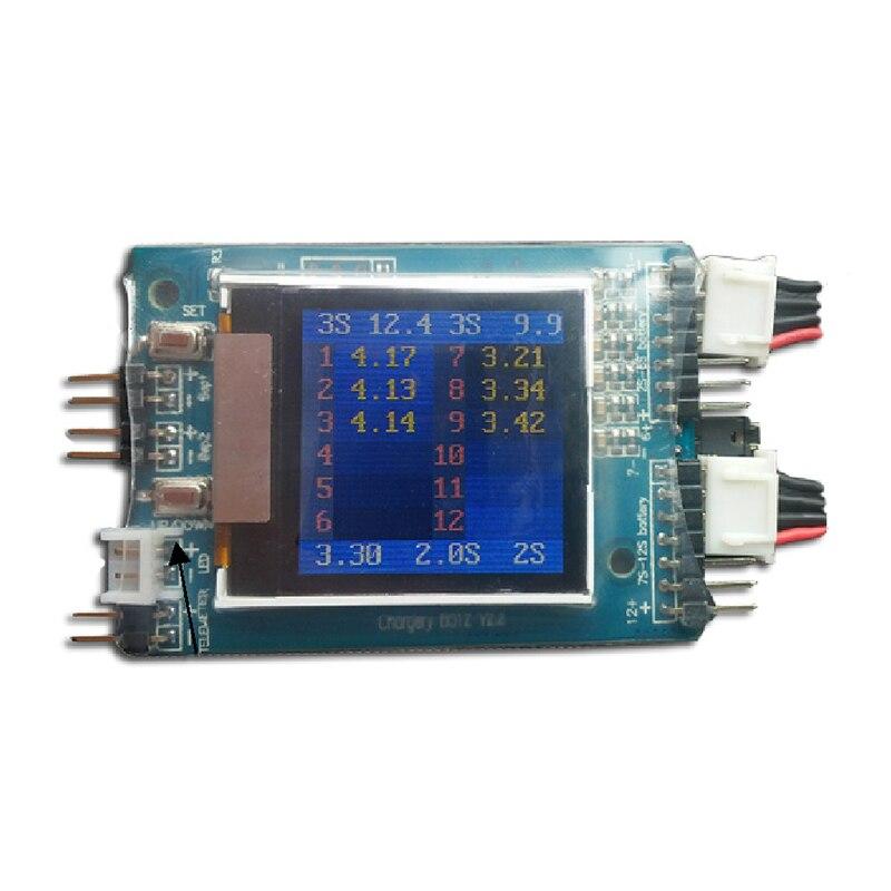 2 uds., Chargery BS12, microprocesador, Monitor controlado, lector, Ahorrador, Watcher, pantalla TFT LCD, 2S ~ 12S, Lipo Li-ion, batería Lifepo4