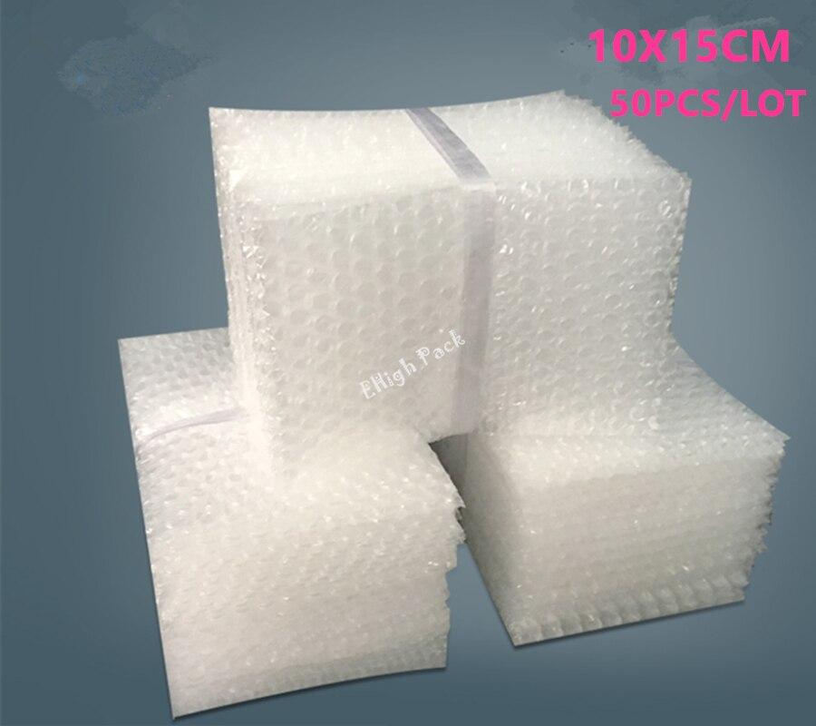 10*15cm 50 Uds 10mm Polietileno Material De Embalaje De burbuja bolsa protectora abrigo De Embalajes Burbujas bolsa De correo